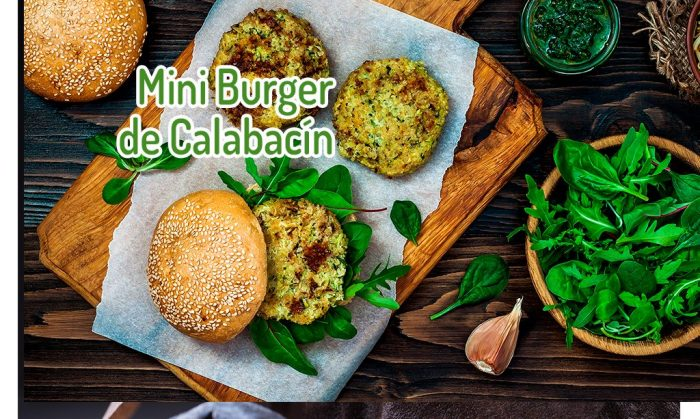 Mini burger de calabacín