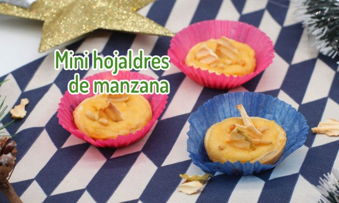 Mini hojaldres de manzana